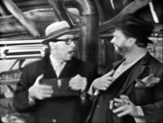 Professor Munson (Richard Deacon) and Freddie the Freeloader (Red Skelton)