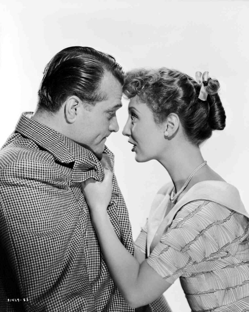 Red Skelton and the … straightforward … Betty Garret in a publicity photo for Neptune's Daughter