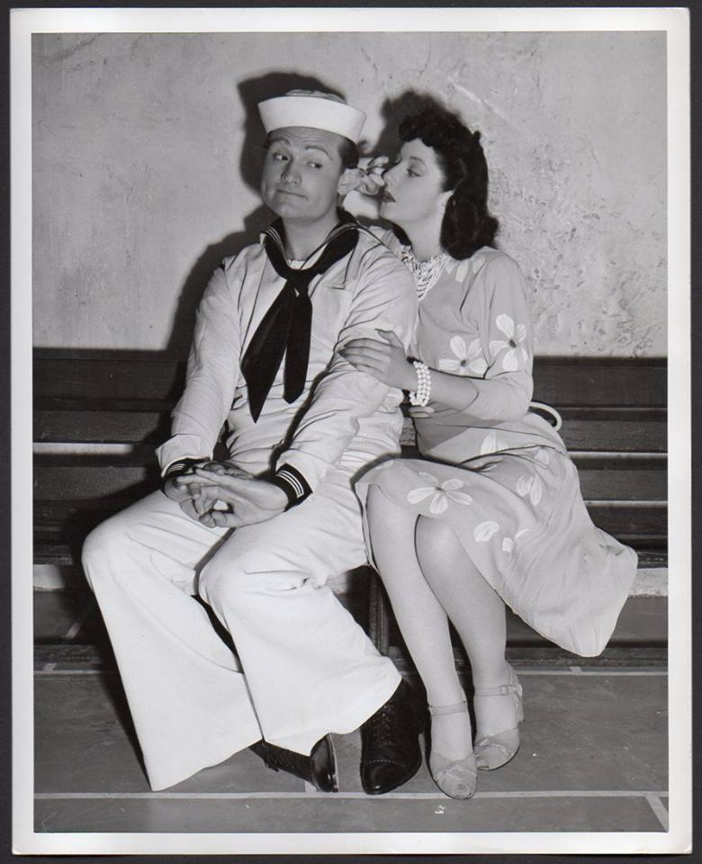 Red Skelton and Virginia O'Brien in a publicity photo from Panama Hattie