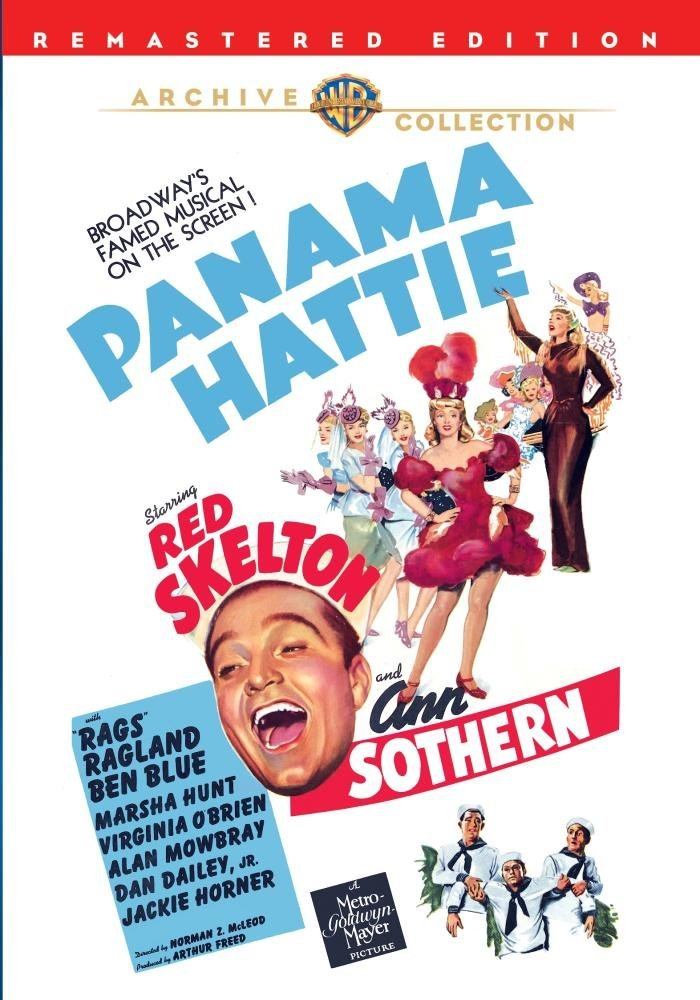 Panama Hattie (1942) starring Red Skelton, Ann Sothern, Rags Ragland, Virginia O'Brien