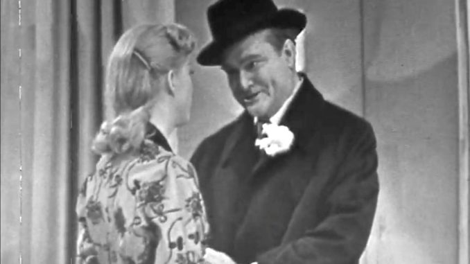 "Married Red Skelton about to leave on his date with another woman in ""Clem and the Married Life"""