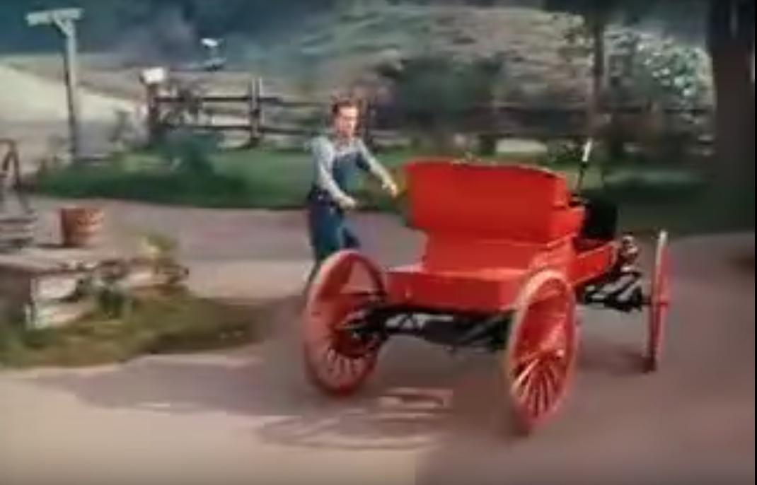 Red chasing his runaway Gasmobile