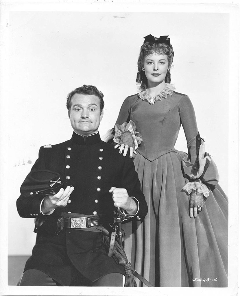 Red Skelton and Arlene Dahl in a publicity photo from Southern Yankee