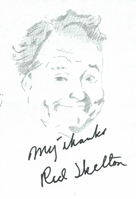 Red Skelton autograph & sketch