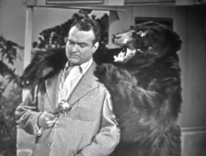 Red Skelton and the bear at the conclusion of Love Thy Neighbor / Sadie Murphy's trailer park