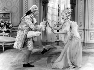 Red Skelton and Lucille Ball dancing in a fantasy scene from Du Barry Was a Lady