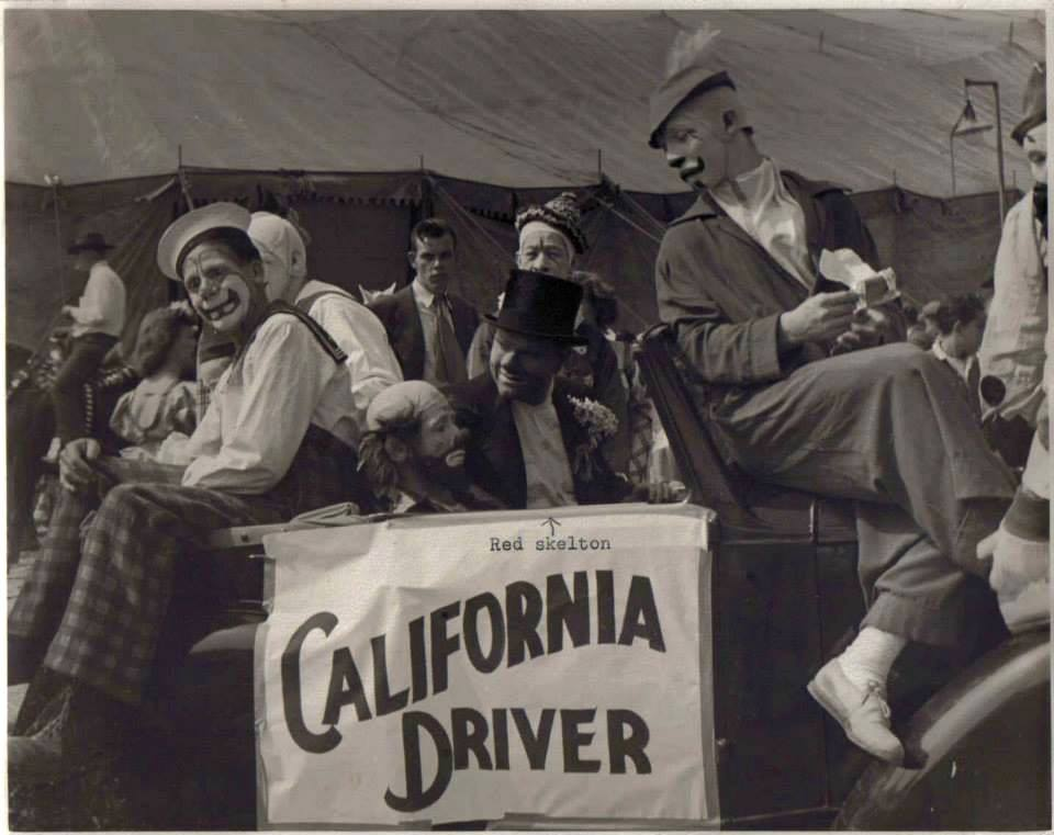 Red Skelton and Mark Anthony with the Cole Brothers circus