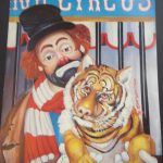 Painting by Red Skelton of Freddie the Freeloader at the circus - hold that tiger!