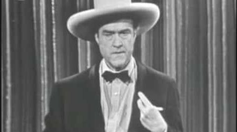 Red Skelton doing the Russian roulette skit on The Red Skelton Show