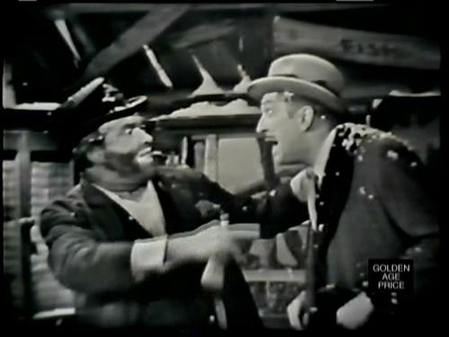 Freddie the Freeloader (Red Skelton) and Vincent Price in The Original DaVinci