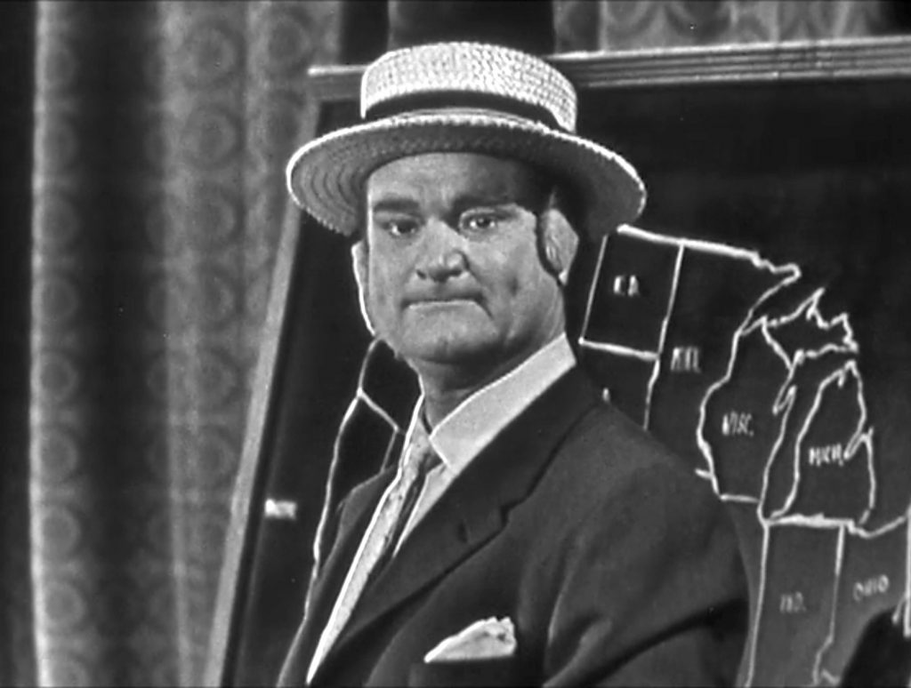 Red Skelton performing his Weatherman skit on Dial 'B' for Brush