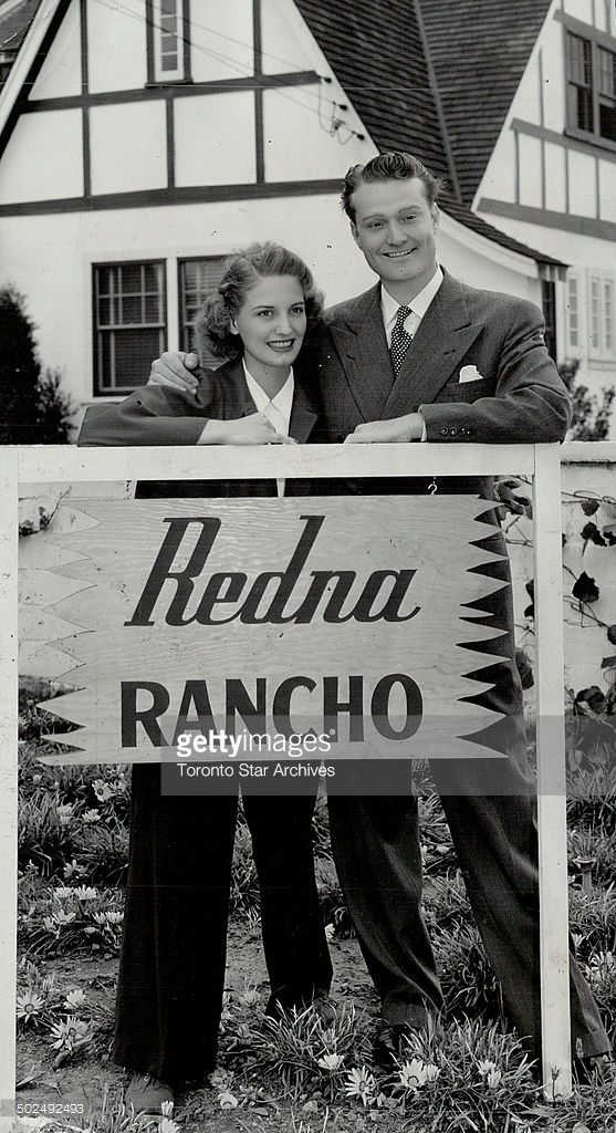 Redna Rancho is Home; Sweet Home for Red Skelton and wife; Edna. They met when Red played a theatre where Edna was cashier.