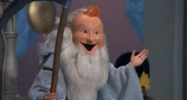 Red Skelton as Father Time in Rudolph's Shiny New Year