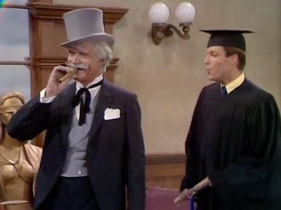 San Fernando and Richard Chamberlain in It's a Treat to Beat a Cheat on the Mississippi Mud