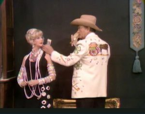 Chanin Hale and Red Skelton in The Silent Spot in The Sweet Smell of Failure