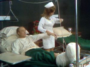 Silent Spot - Red Skelton has his pulse taken by a beautiful nurse