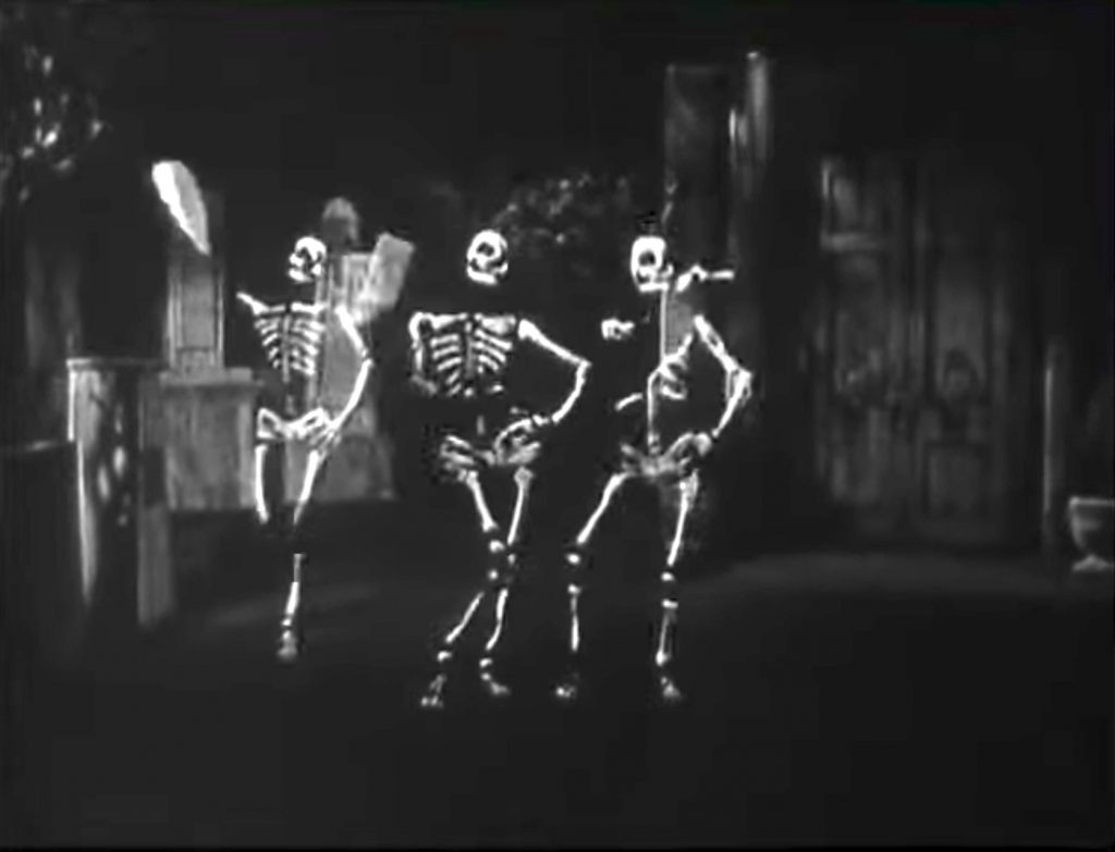 Skeleton dance routine