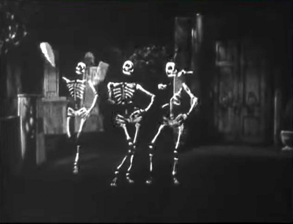 Skeleton dance routine