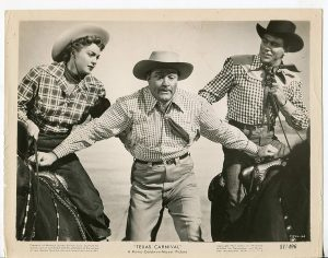 Texas Carnival promotional photo - Esther Williams, Red Skelton, Howard Keel