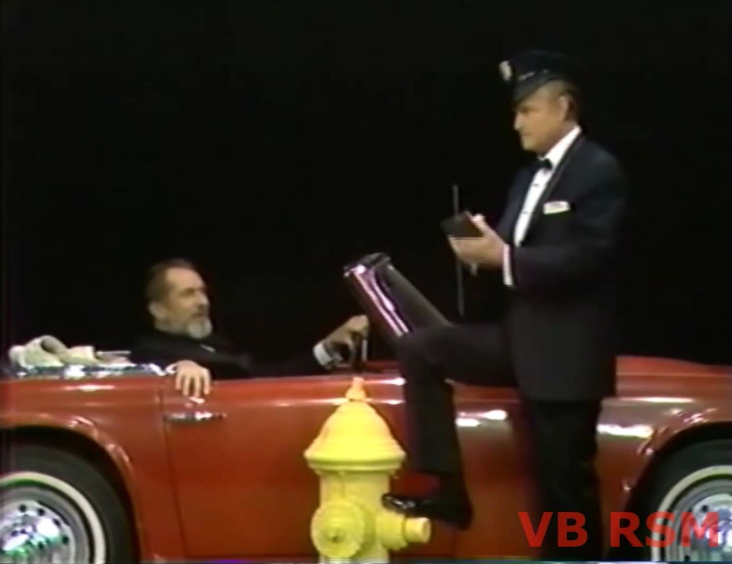 One minute skit, The Nasty Cop - with Vincent Price, Red Skelton, a parking ticket and a fire hydrant