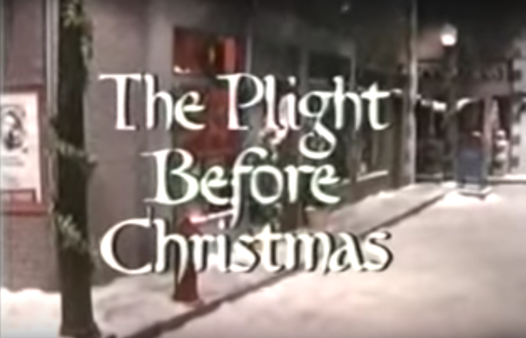 The Plight Before Christmas title card