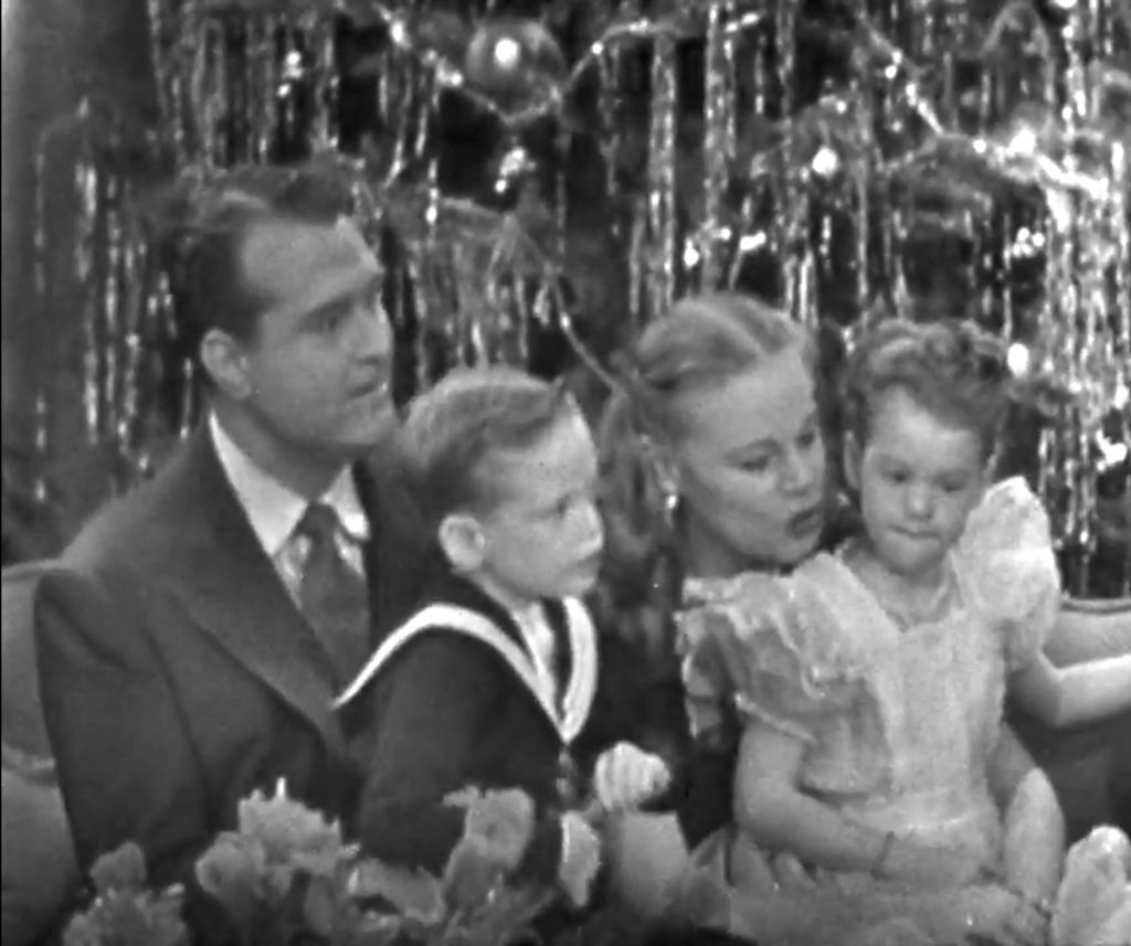 The Skeltons at Home - Red Skelton, wife Georga, children Richard and Valentina