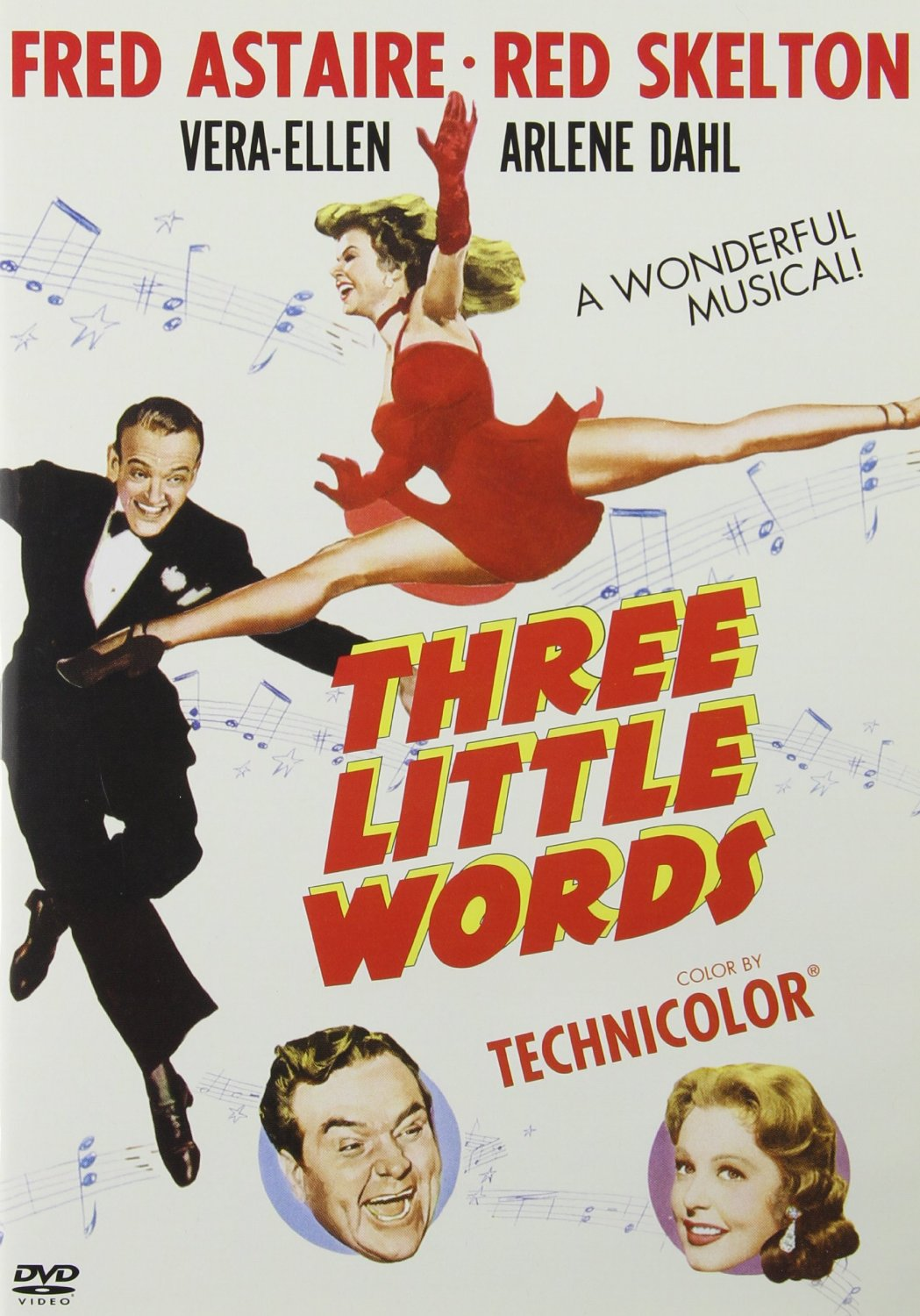 Three Little Words, Fred Astaire, Red Skelton, Vera-Ellen, Arlene Dahl, 1950