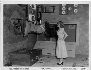 The topsy turvy room in The Clown