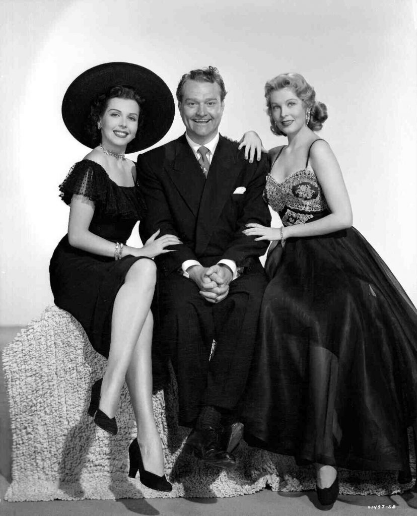 Red Skelton in Watch the Birdie, with Ann Miller & Arlene Dahl