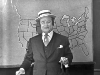 Red Skelton as a weatherman in the Mountain Washin' episode of The Red Skelton Show