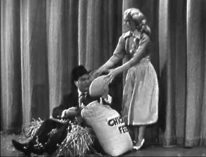 """Weepy the Cluck - a Tide commercial with Red Skelton and Lucille Ball, as he's trying to hatch an egg for Mother's Day in """"Let's Talk About Mother"""""""