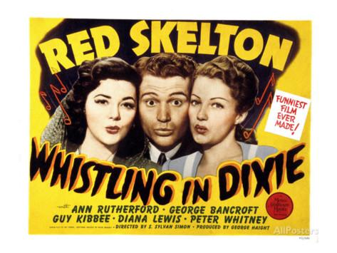Red Skelton in a publicity photo for Whistling in Dixie, with the lovely Diana Lewis and Ann Rutherford