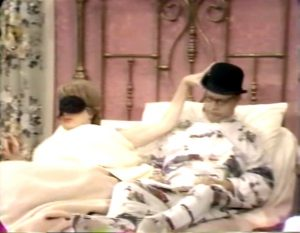 """George Appleby and Clara (Eve Arden) share a bed without realizing it in """"Absence Makes the Hate Grow Fonder"""""""