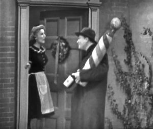 Willy Lump-Lump brings Christmas presents for the Skeltons